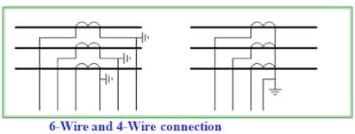 6 wire & 4 wire connection of ct