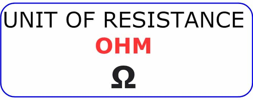 unit of electrical resistance